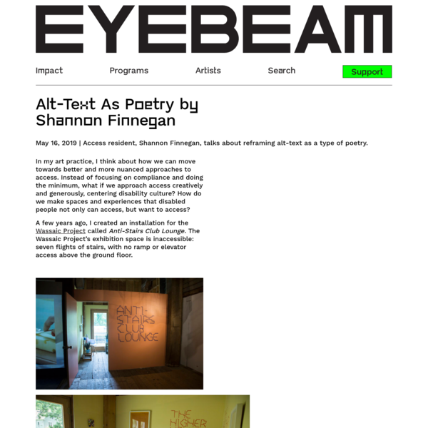 Alt-Text As Poetry by Shannon Finnegan - Eyebeam