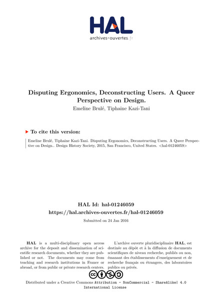 Disputing Ergonomics - Queer Perspective on Design