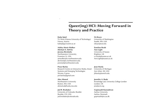 Queer(ing) HCI