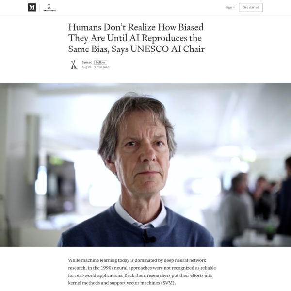 Humans Don't Realize How Biased They Are Until AI Reproduces the Same Bias, Says UNESCO AI Chair