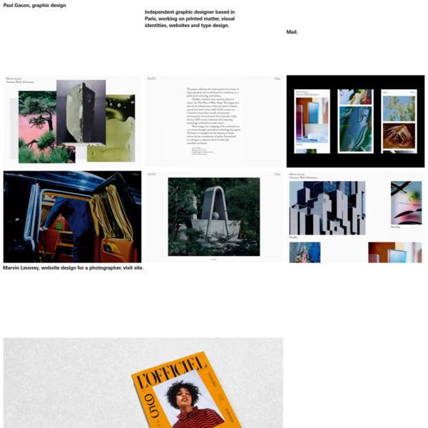 Paul Gacon, graphic design