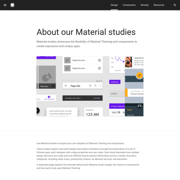 About our Material studies