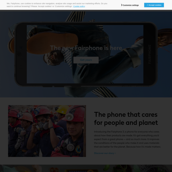 Fairphone | The phone that cares for people and planet