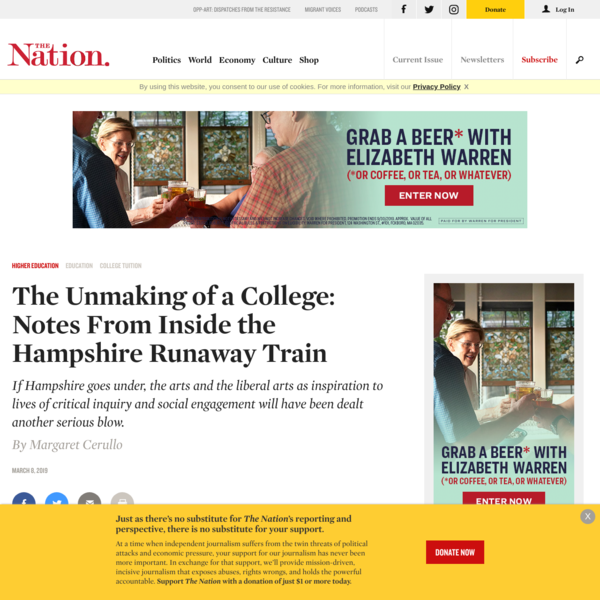 The Unmaking of a College: Notes From Inside the Hampshire Runaway Train