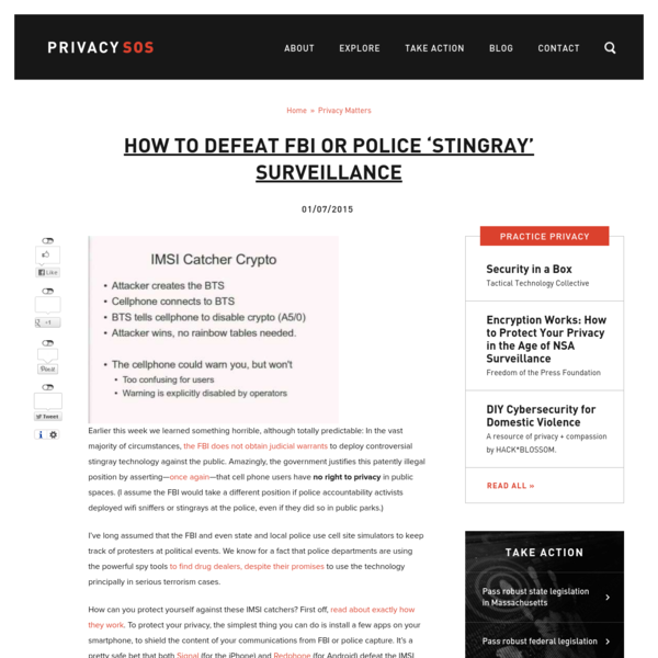How to defeat FBI or police 'stingray' surveillance | Privacy SOS