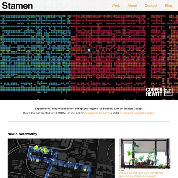 Stamen DesignStamen Design: Data Visualization and Map Design Studio