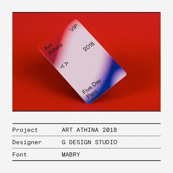 IN USE: @gdesignstudio.gr designed an identity utilising Mabry for the international contemporary art fair Art Athina. G Stu...