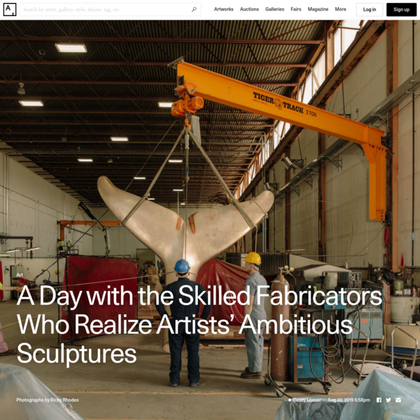 A Day with the Skilled Fabricators Who Realize Artists' Ambitious Sculptures