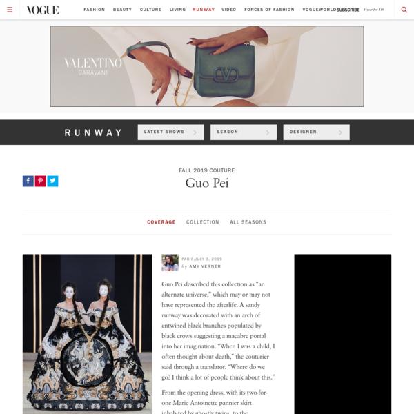 Guo Pei Fall 2019 Couture Fashion Show