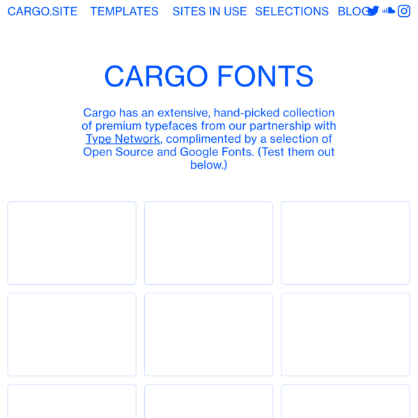 Fonts - Put your projects on the Web.