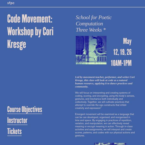 Code Movement: Workshop by Cori Kresge