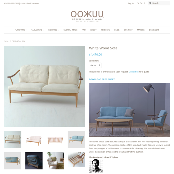 White Wood Sofa – OOKKUU