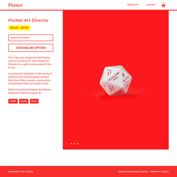 Don't like your design but don't know what to do about it? Take Pocket Art Director for a whirl and see what it has to say. A custom 20-sided d...