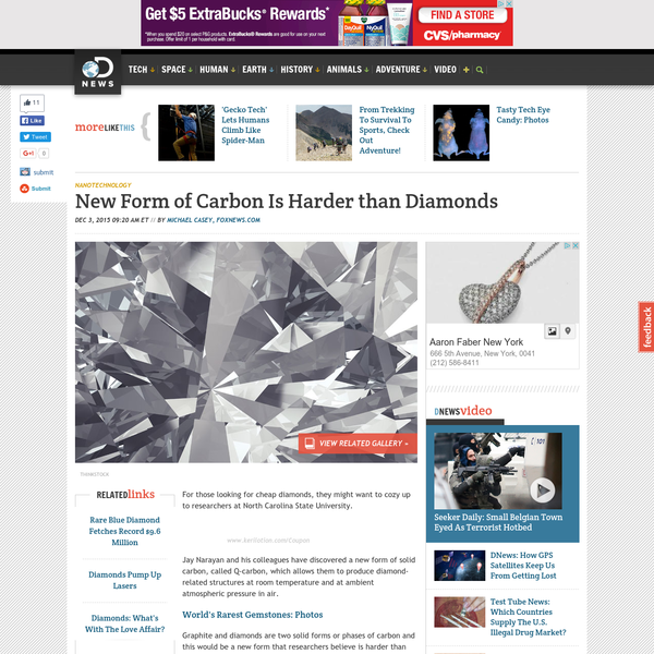 The new material called Q-carbon allows scientists to produce diamond-related structures at room temperature.