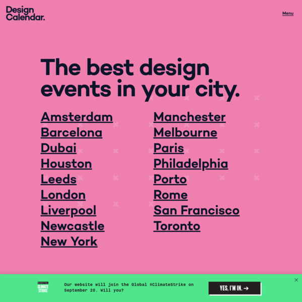 Design Calendar - The best design events in your city