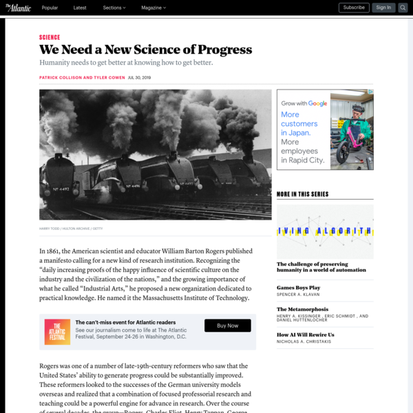 We Need a New Science of Progress