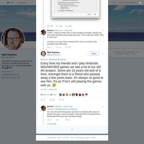 Matt Sephton on Twitter