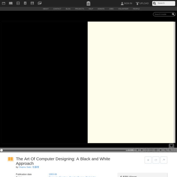 The Art Of Computer Designing: A Black and White Approach : Osamu Sato : Free Download, Borrow, and Streaming : Internet Arc...