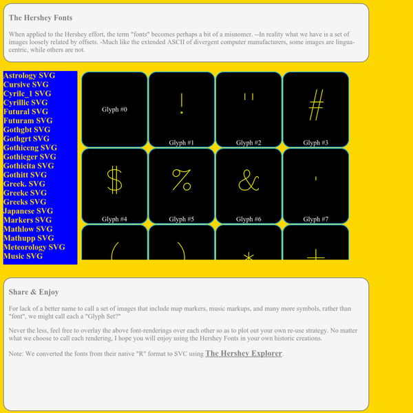 The Hershey Font Explorer