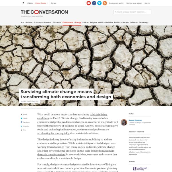 Surviving climate change means transforming both economics and design