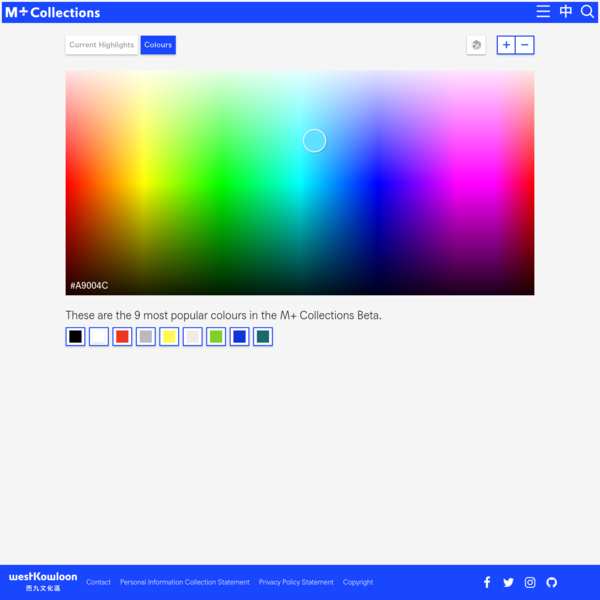 Colour Search - M+ Collections Beta