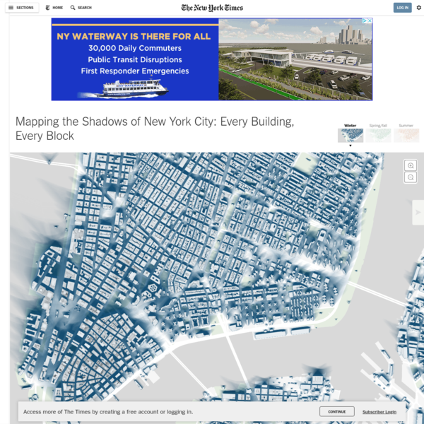 Mapping the Shadows of New York City: Every Building, Every Block