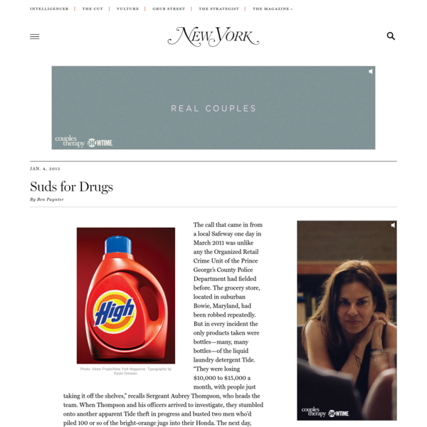 How Tide Detergent Became a Drug Currency -- New York Magazine - Nymag