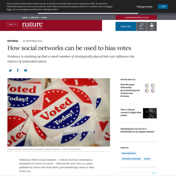 How social networks can be used to bias votes