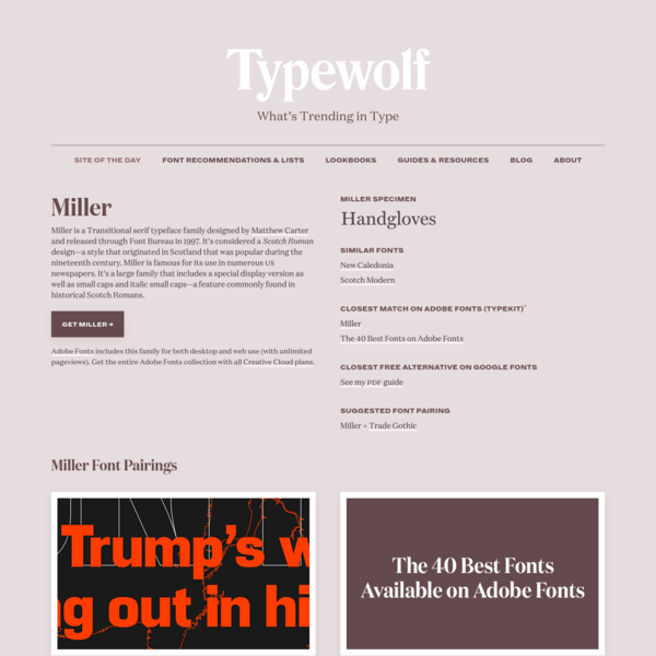 Miller Font Combinations & Free Alternatives · Typewolf