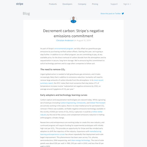 Decrement carbon: Stripe's negative emissions commitment