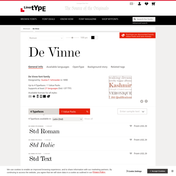 De Vinne font family | Linotype.com
