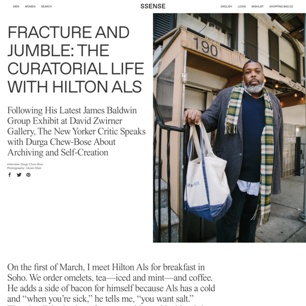 Fracture and Jumble: The Curatorial Life With Hilton Als