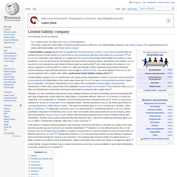 Limited liability company - Wikipedia