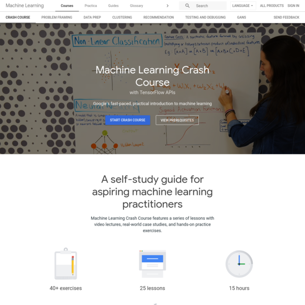 Machine Learning Crash Course   Google Developers