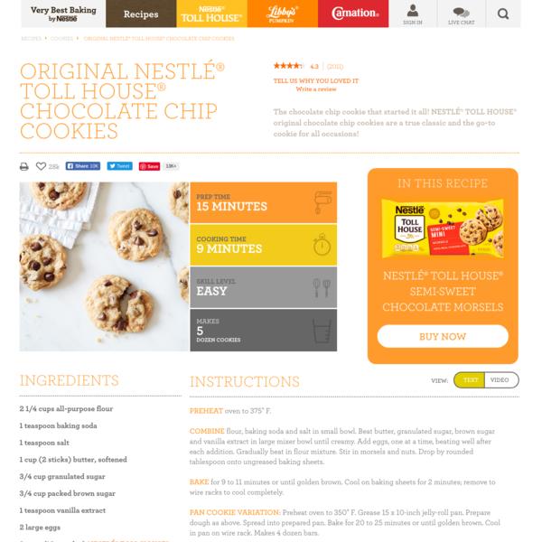 Original NESTLÉ® TOLL HOUSE® Chocolate Chip Cookies