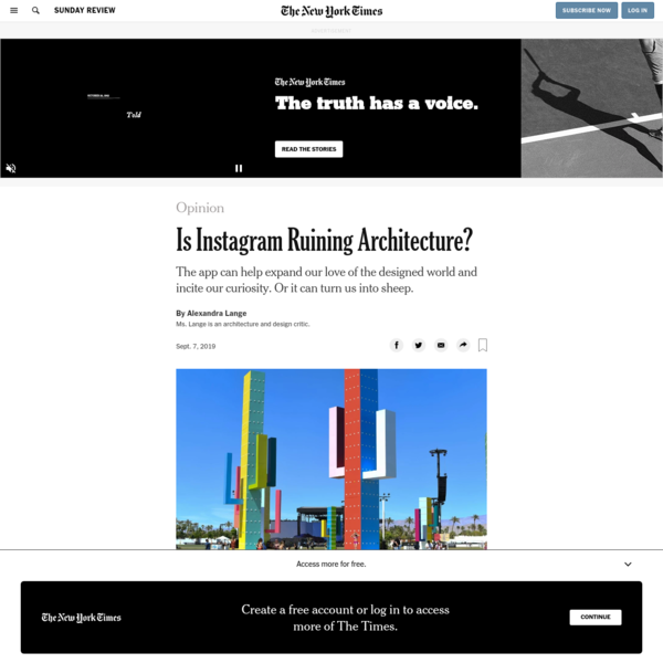 Opinion | Is Instagram Ruining Architecture? - The New York Times