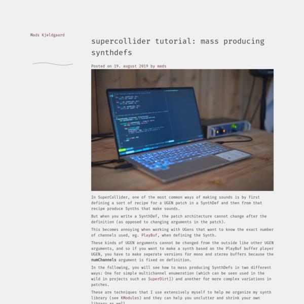 SuperCollider tutorial: Mass producing SynthDefs