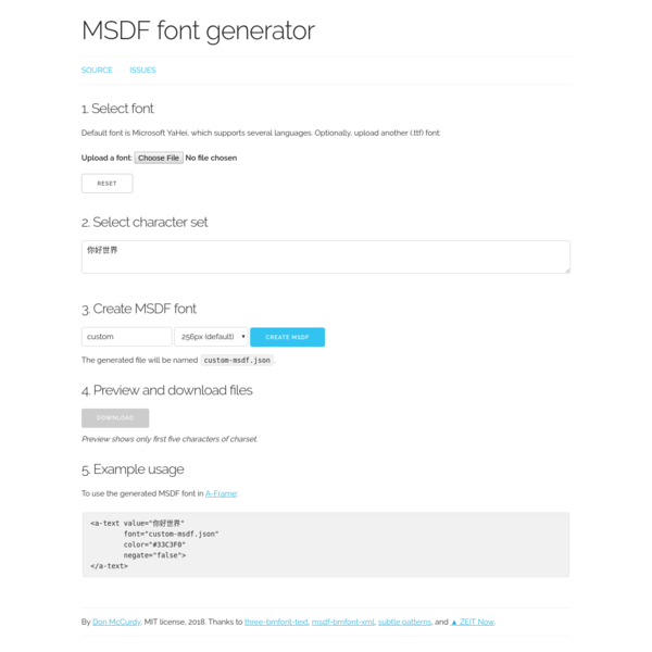 MSDF font generator