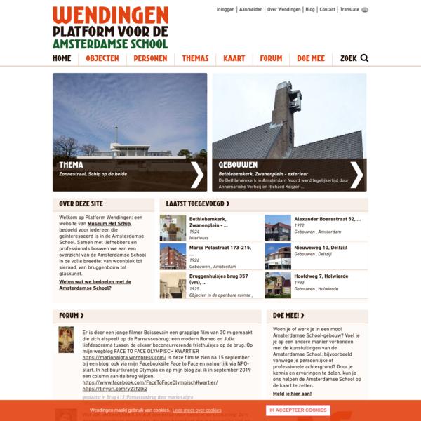Home | Wendingen ~ Platform voor de Amsterdamse School