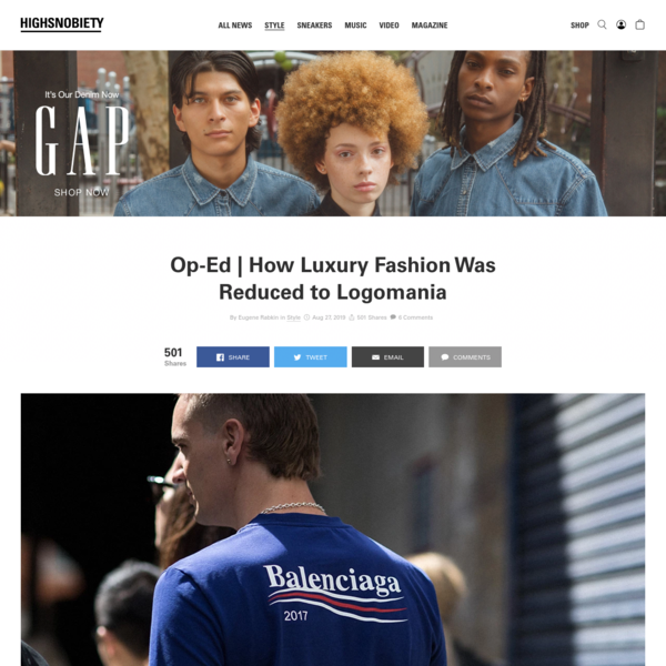 How Luxury Fashion Was Reduced to Logomania: Read About It Here