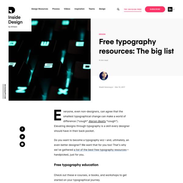 Free typography resources: The big list   Inside Design Blog