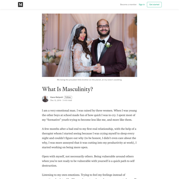 What Is Masculinity?
