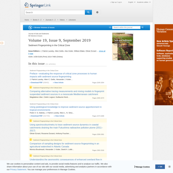 Journal of Soils and Sediments, Volume 19, Issue 9 - Springer