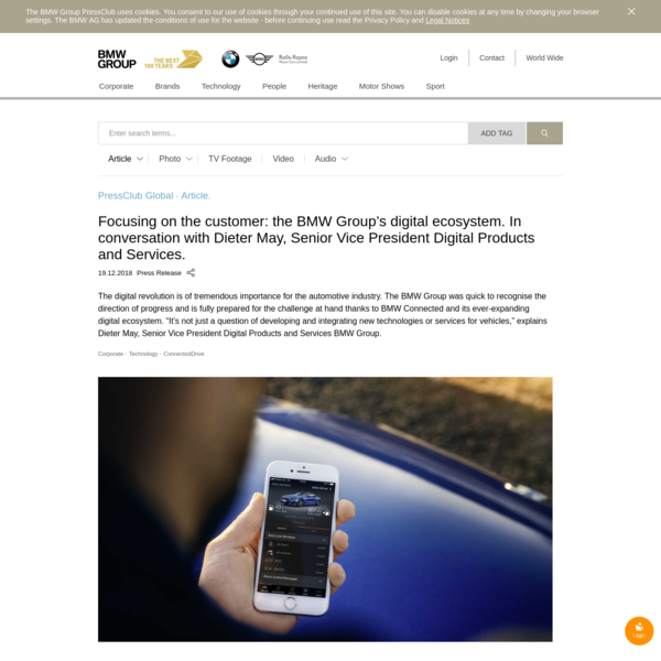 Focusing on the customer: the BMW Group's digital ecosystem. In conversation with Dieter May, Senior Vice President Digital ...