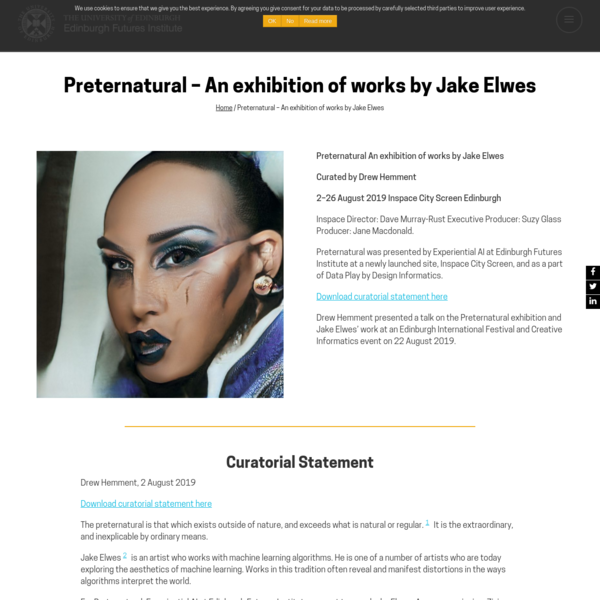 Preternatural - An exhibition of works by Jake Elwes