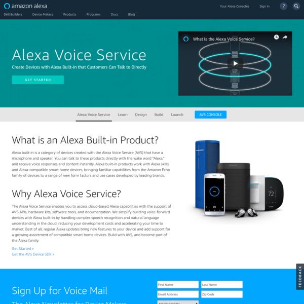 Alexa Voice Service - Make Your Own Alexa Product
