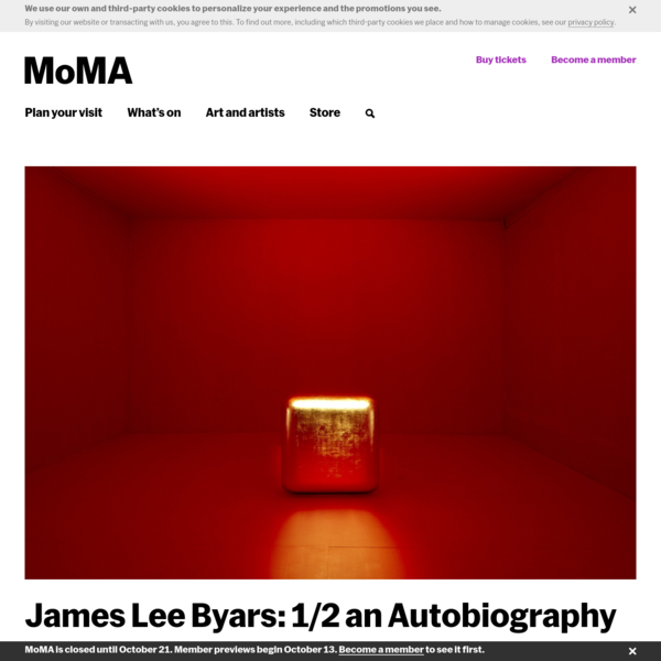 James Lee Byars: 1⁄2 an Autobiography