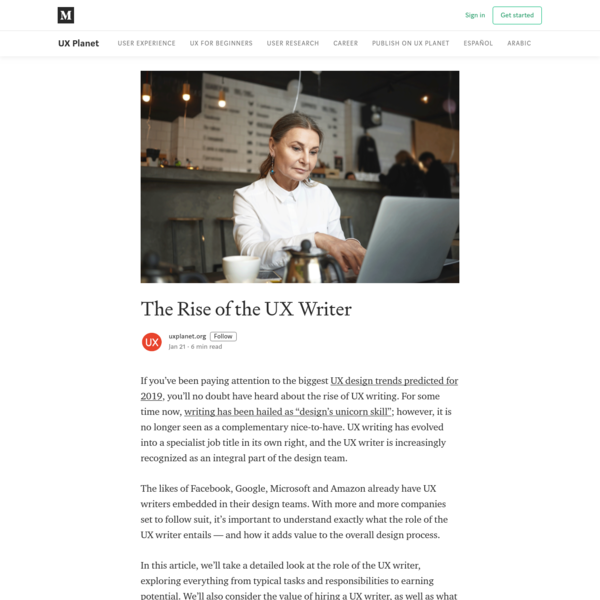 The Rise of the UX Writer