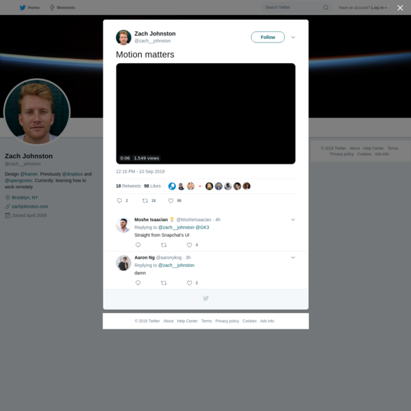 Zach Johnston on Twitter