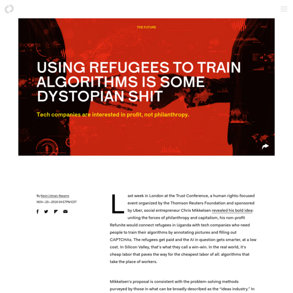 Using refugees to train algorithms is some dystopian shit
